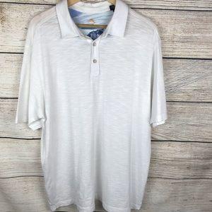 Tommy Bahama white polo casual shirt